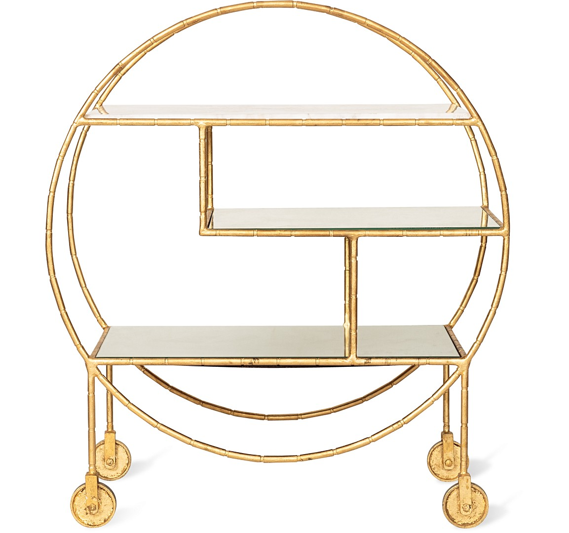 gold luxe drinks trolley from Oliver Bonas