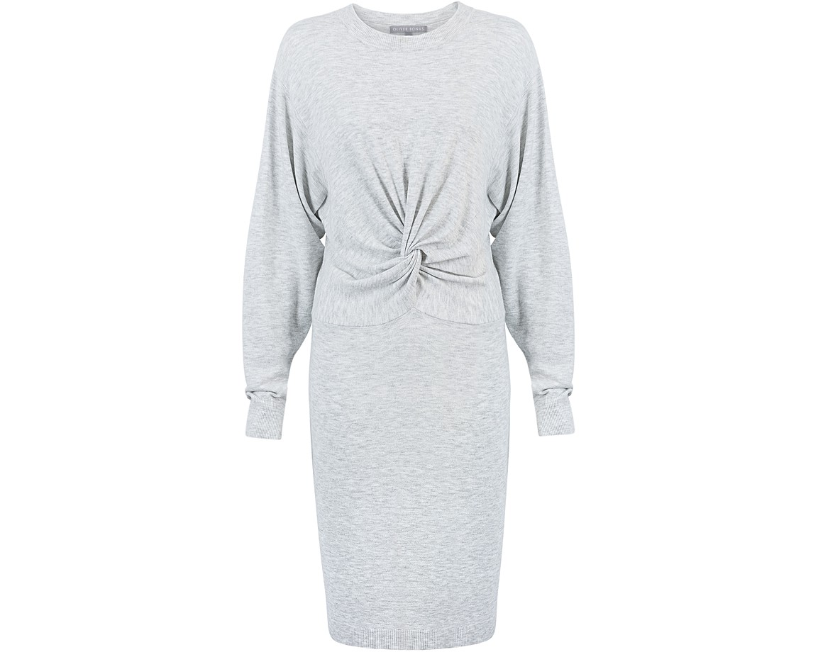 Oliver Bonas Dash Sparkle Tie Sleeve Knitted Dress, size 14