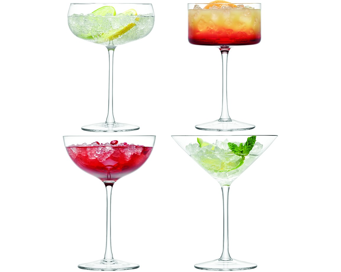 Perfect Set Of Four LSA LULU Champagne U0026 Cocktail Glasses Gallery