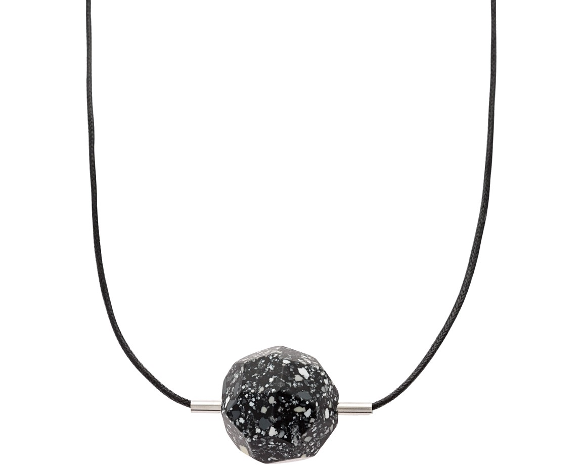 Black geo meteorite pendant necklace oliver bonas geo meteorite pendant necklace aloadofball Image collections