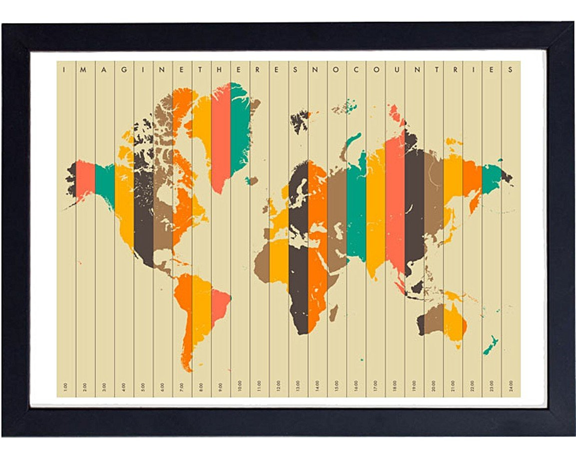 Imagine There\'s No Countries by Jazzberry Blue Wall Art | Oliver Bonas