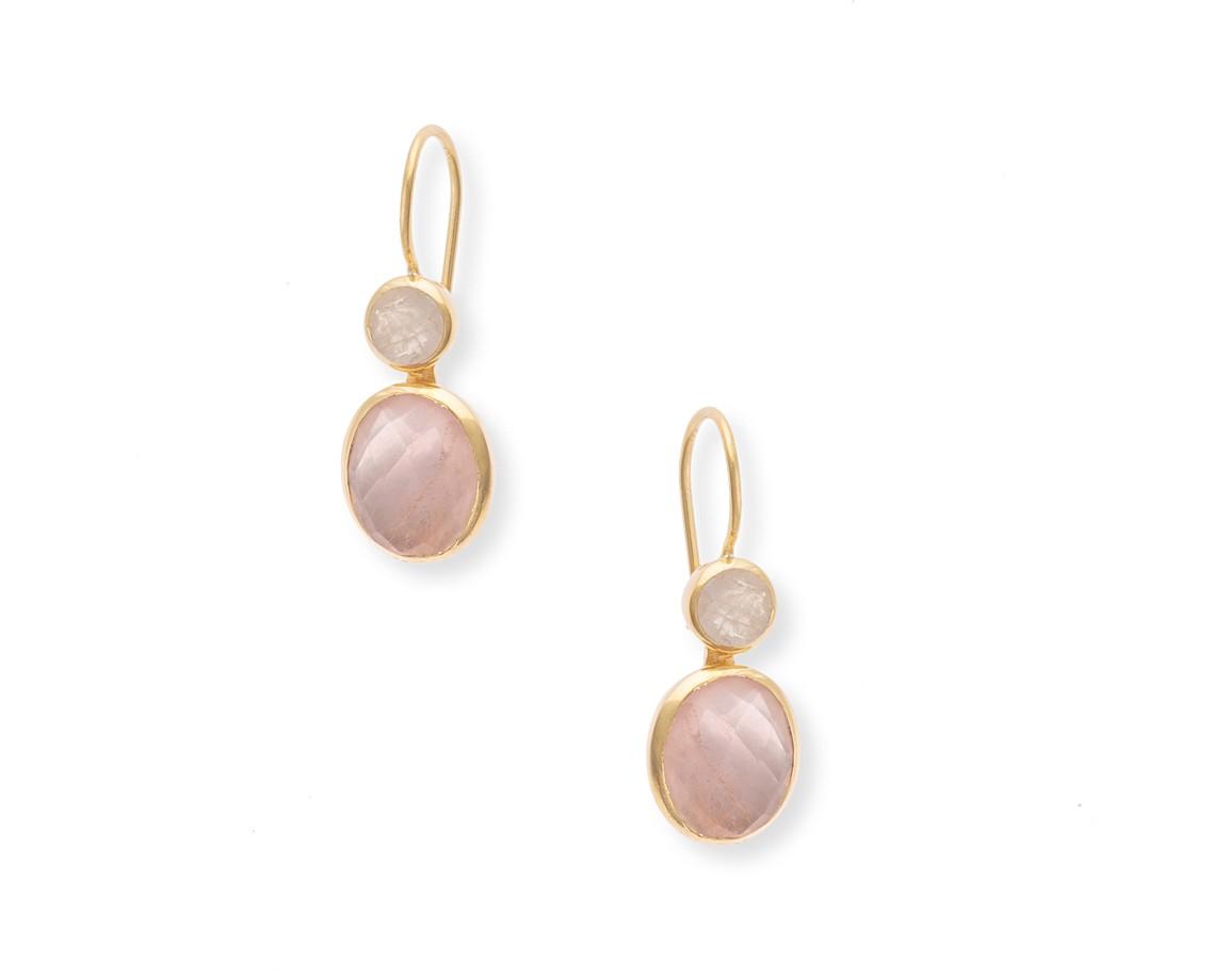 Pink Mona Fixed Post Drop Earrings | Oliver Bonas