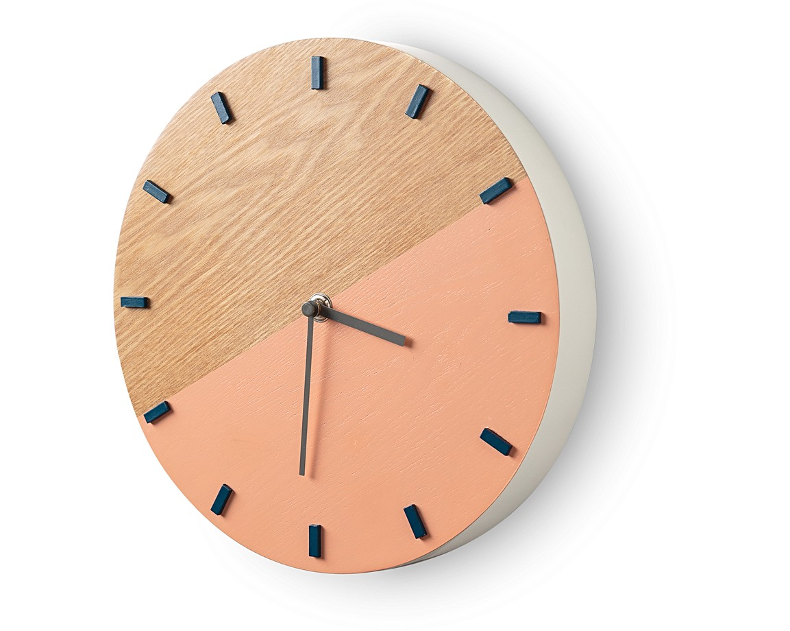 Pink elo wall clock bedroom oliver bonas pink elo wall clock amipublicfo Image collections