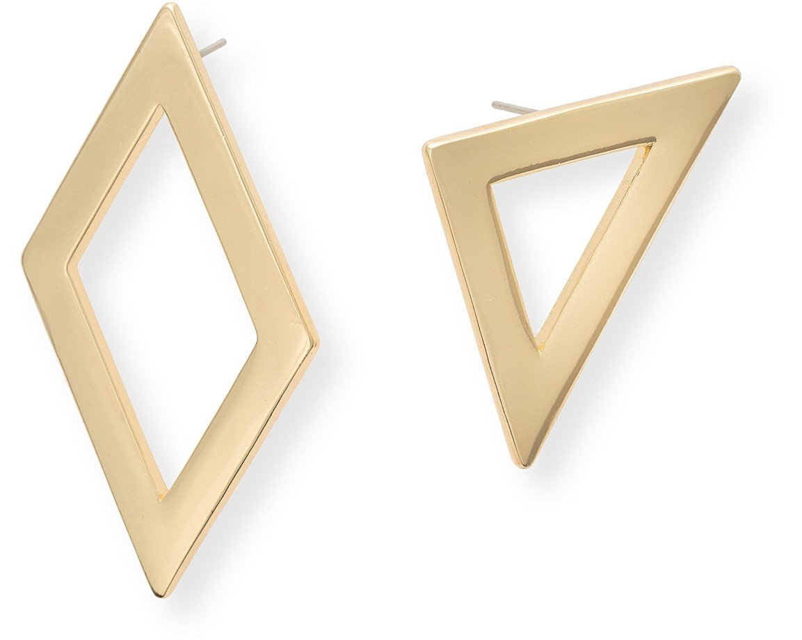 mismatched gallery product metallic earrings in jewelry plated gold normal nylon lyst stud