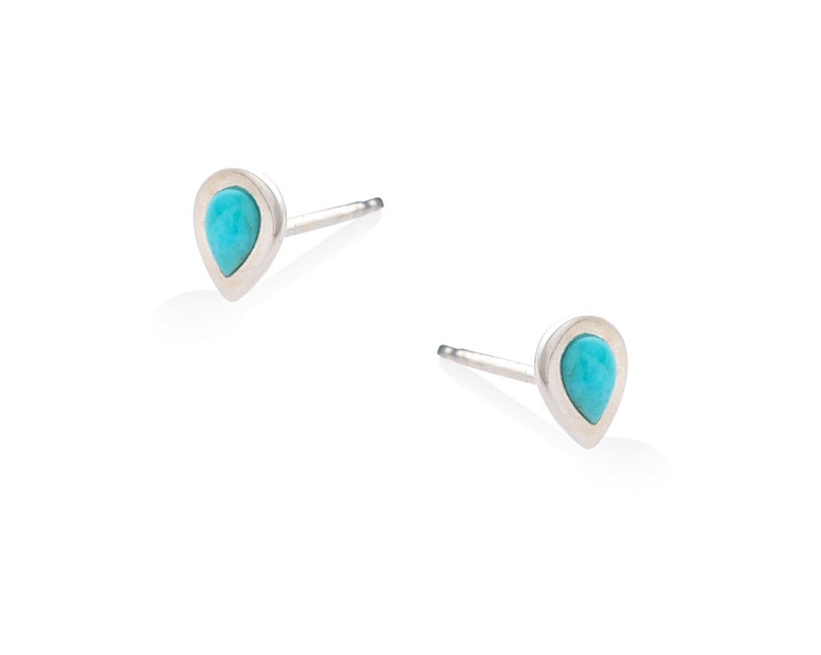 tear earrings real drop img silver sterling marcasite stud products in turquoise