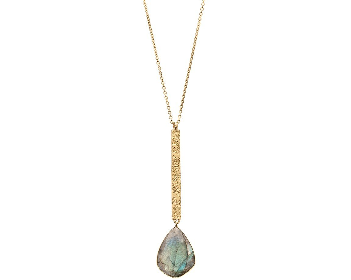 Gold sidra stone pendant drop necklace oliver bonas sidra stone pendant drop necklace mozeypictures Gallery