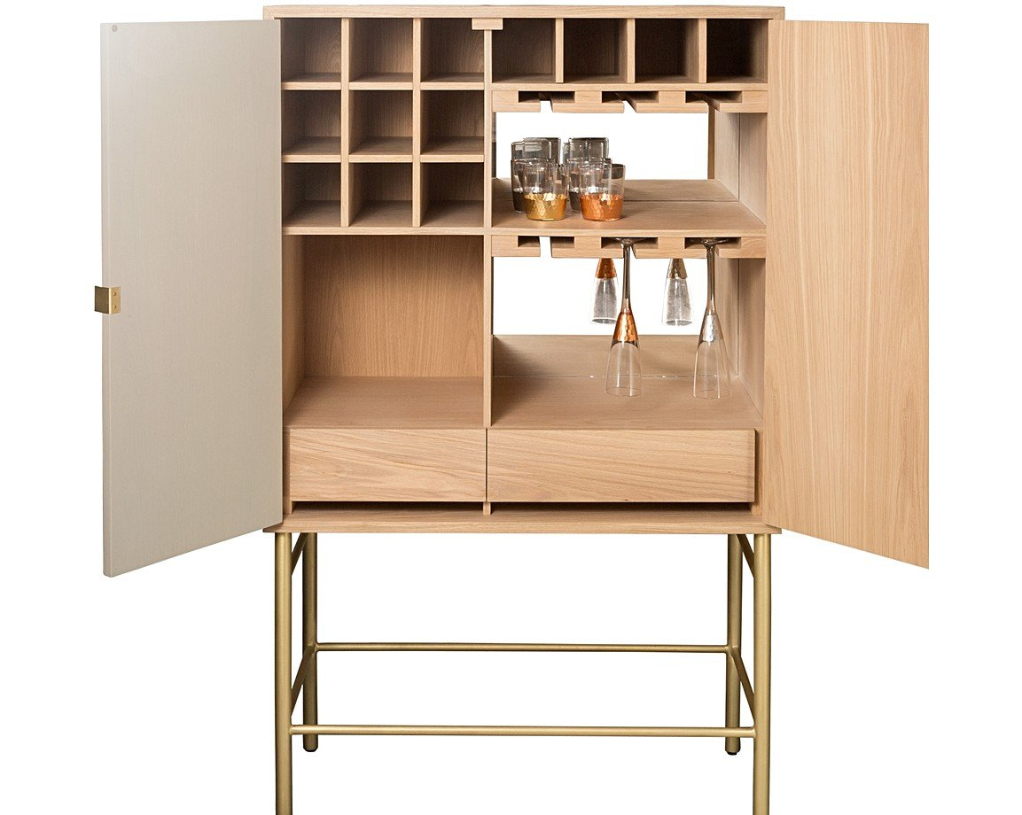 Oro Grey Drinks Cabinet
