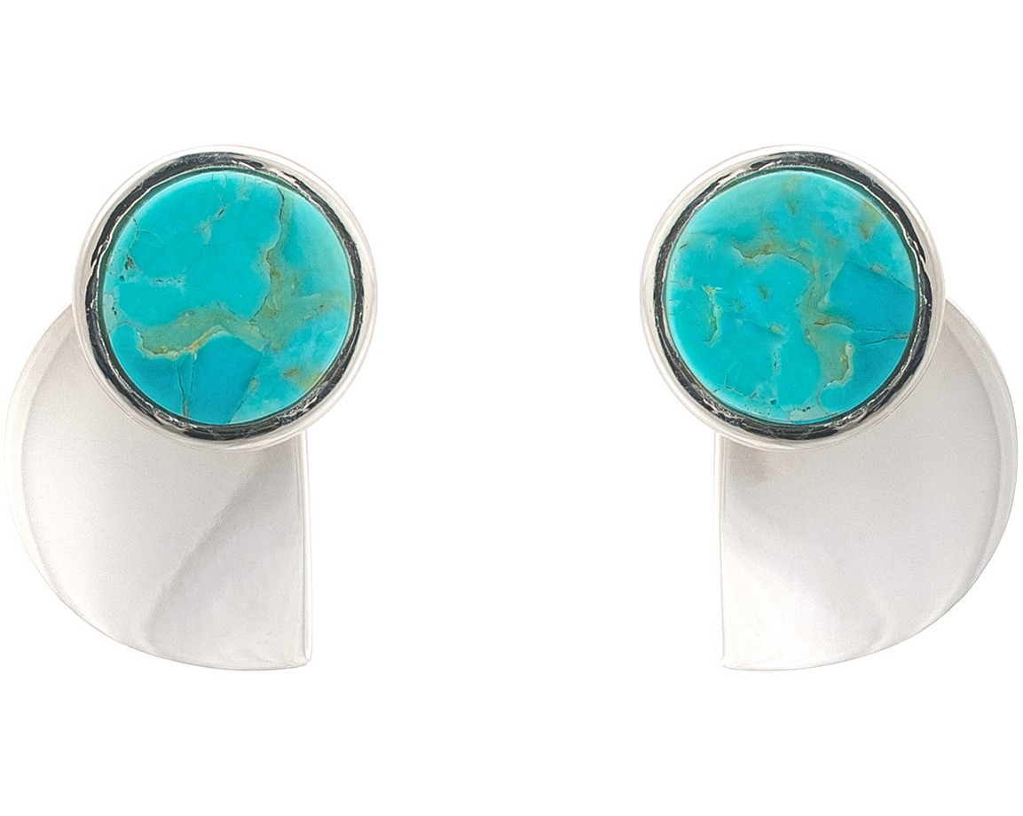 oliver bonas silver zosia teardrop real earrings jewellery turquoise stud