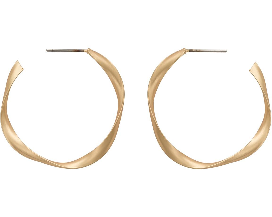 Patti Matte Twist Hoop Earrings