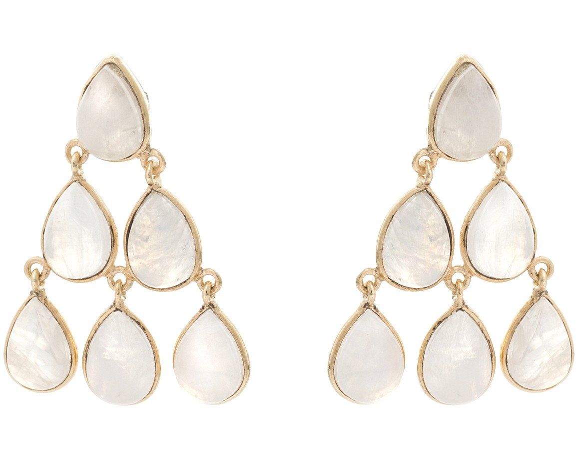 White yew moonstone teardrop chandelier earrings oliver bonas yew moonstone teardrop chandelier earrings aloadofball Images
