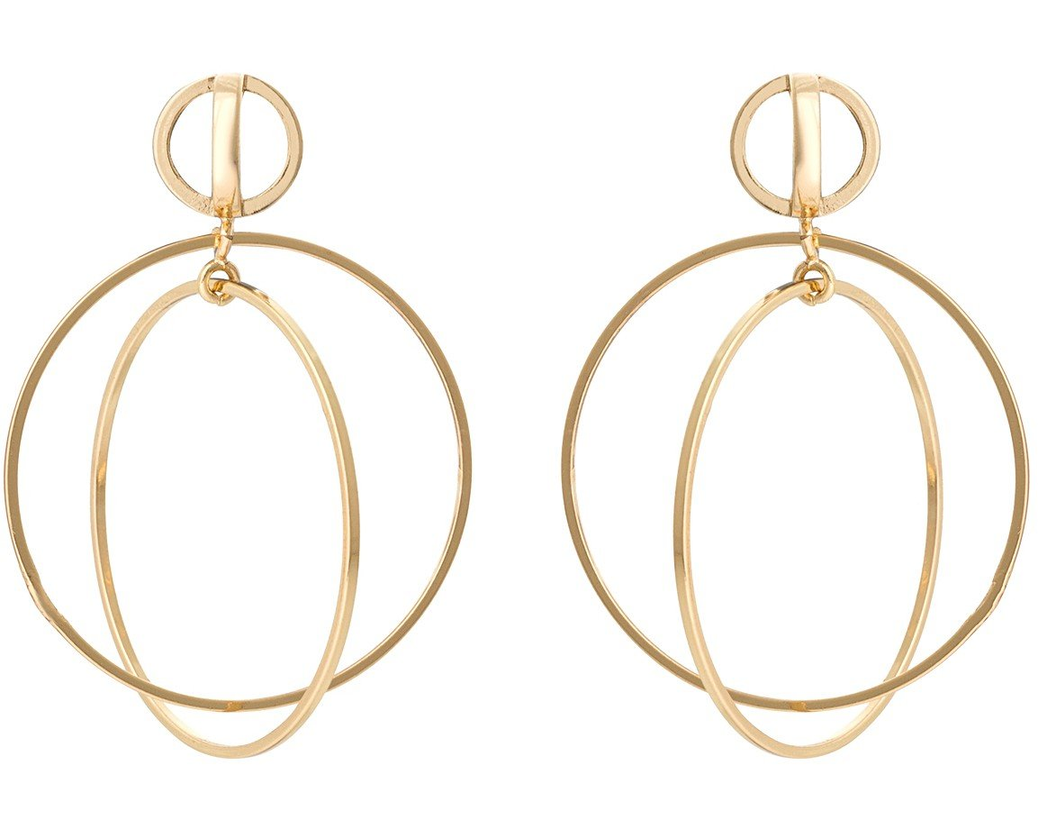 img and products set round white gold druzy earrings circular in drop