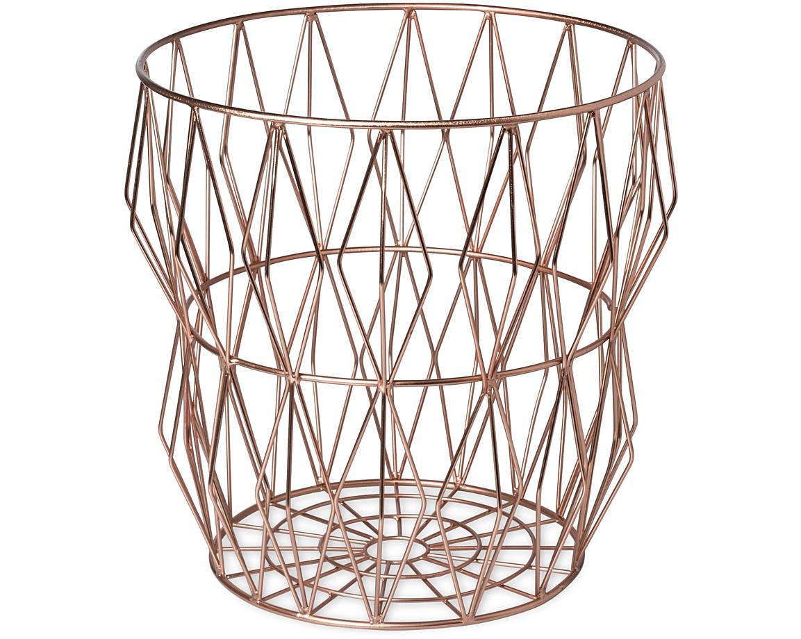 Wire Angle Copper Bin   Oliver Bonas