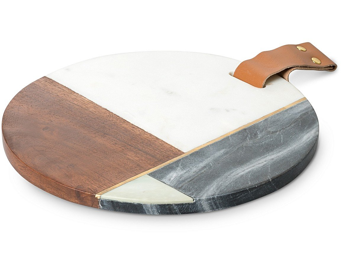 Green marble wood cheese board oliver bonas