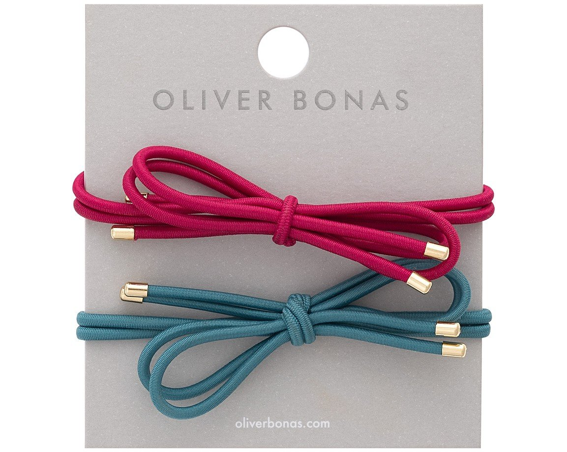 Multi Bow Colour Hair Elastics Set of Two | Oliver Bonas