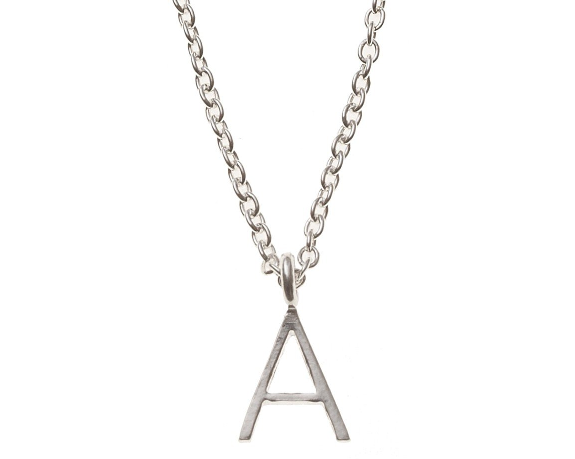 Silver alphabet necklace a gifts oliver bonas silver alphabet necklace aloadofball Choice Image
