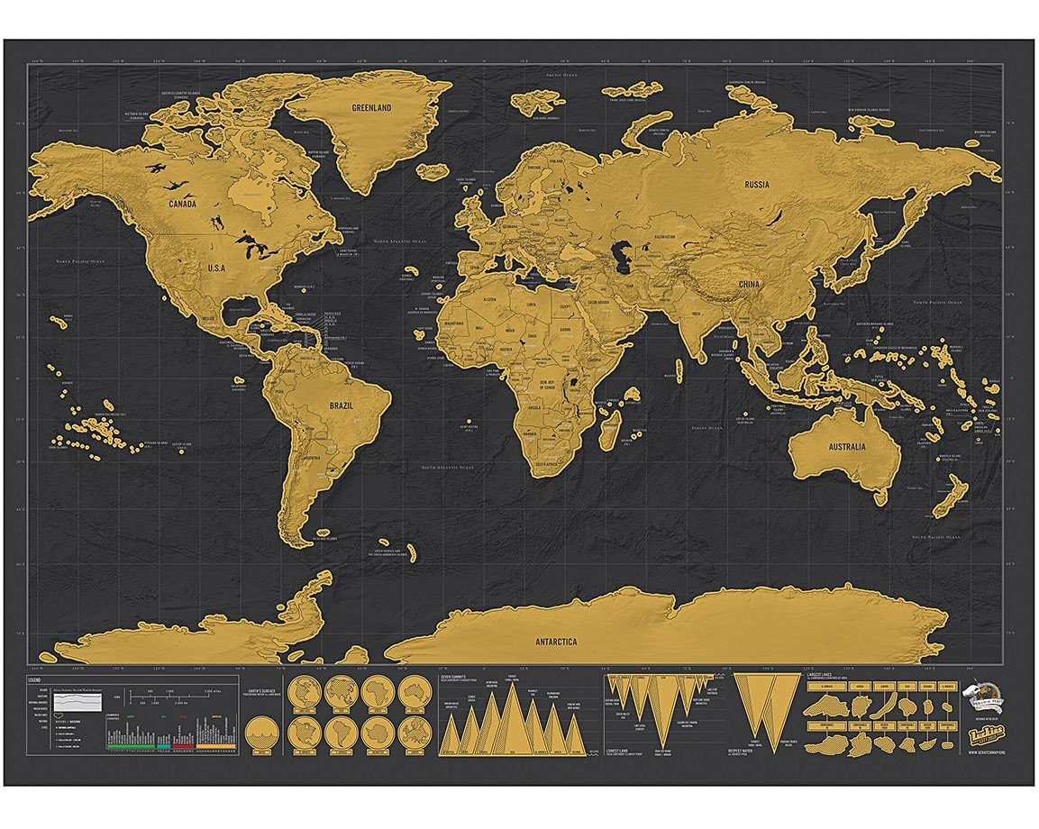 Deluxe scratch map oliver bonas deluxe scratch map gumiabroncs Image collections