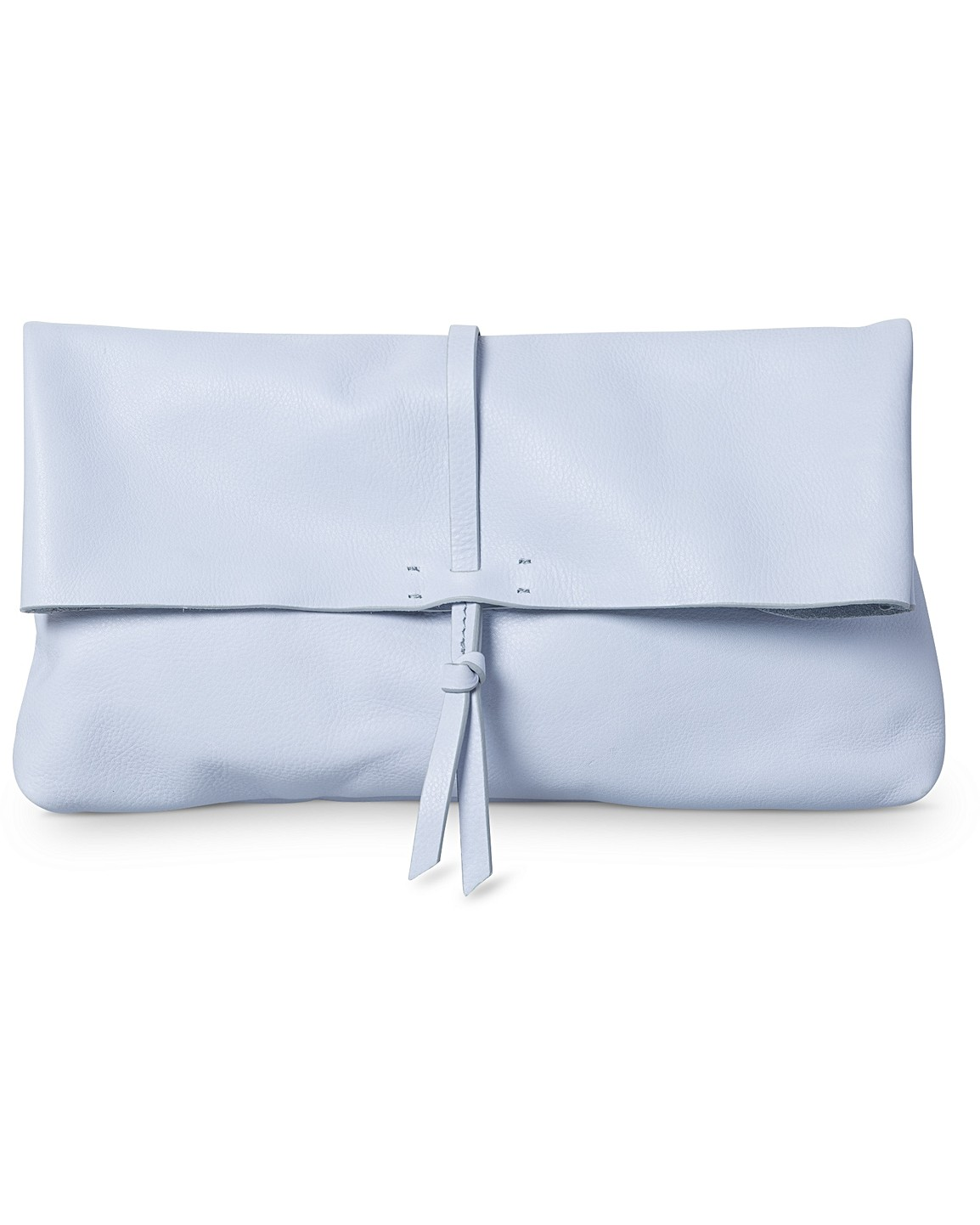Tie   Roll Top Leather Clutch Bag 399f0808e5588