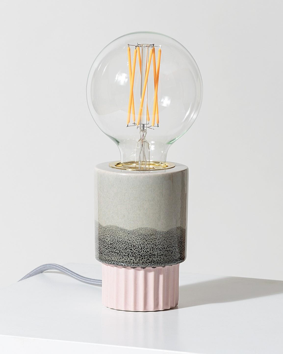 736cb22e4f71 Lecia Ceramic Pink & Grey Table Lamp