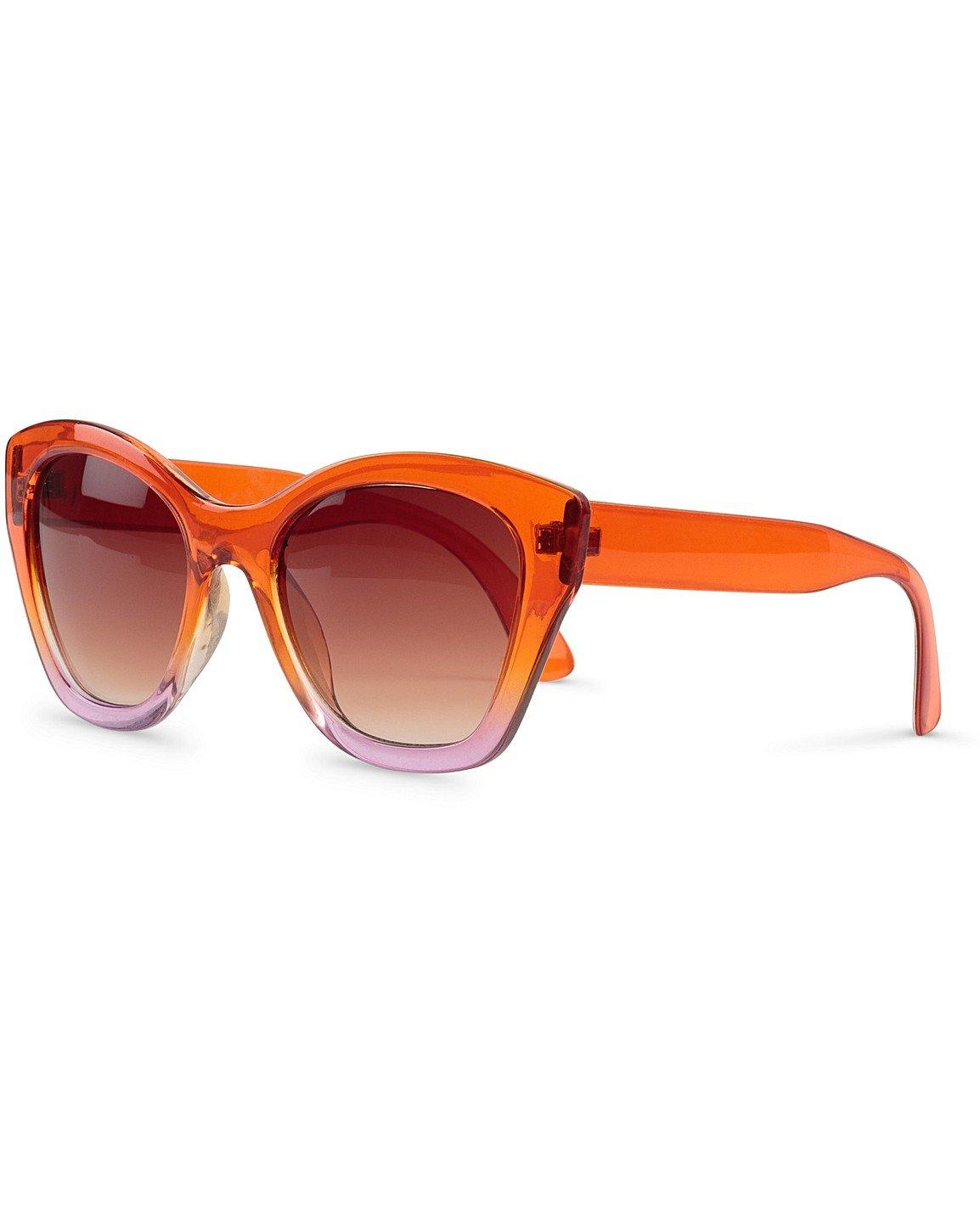 ca438fbfe Ombre Angled Orange & Pink Sunglasses