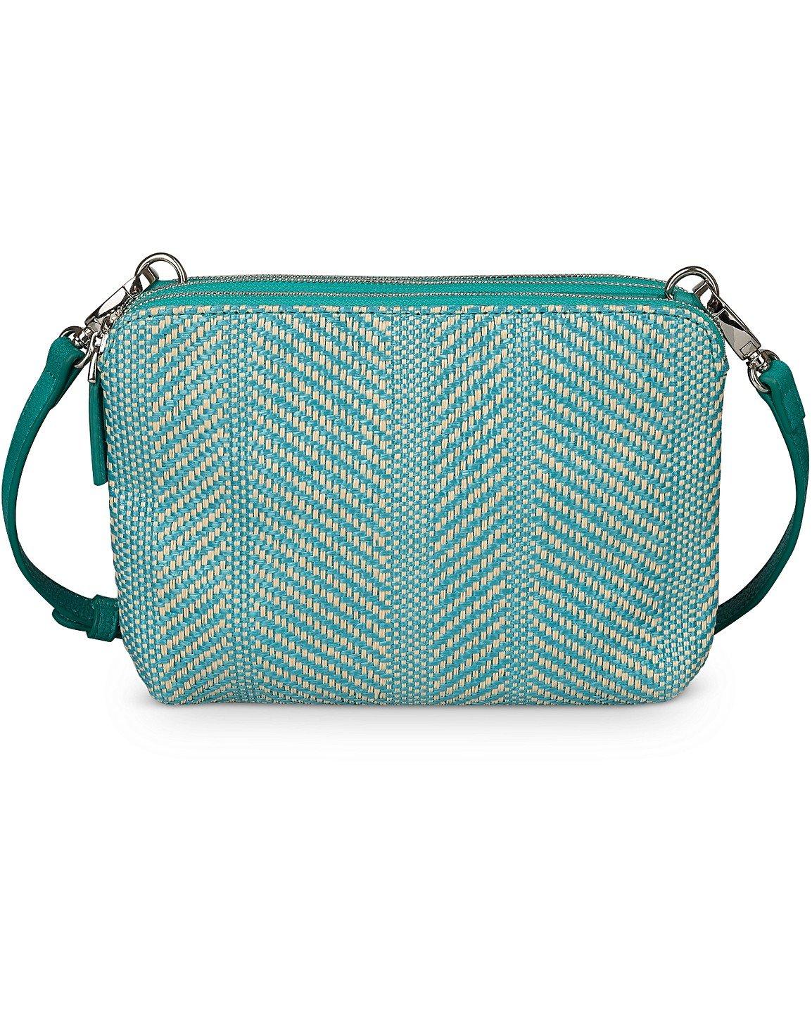 36c03e3676 Carlee Weave Teal Blue Cross Body Bag