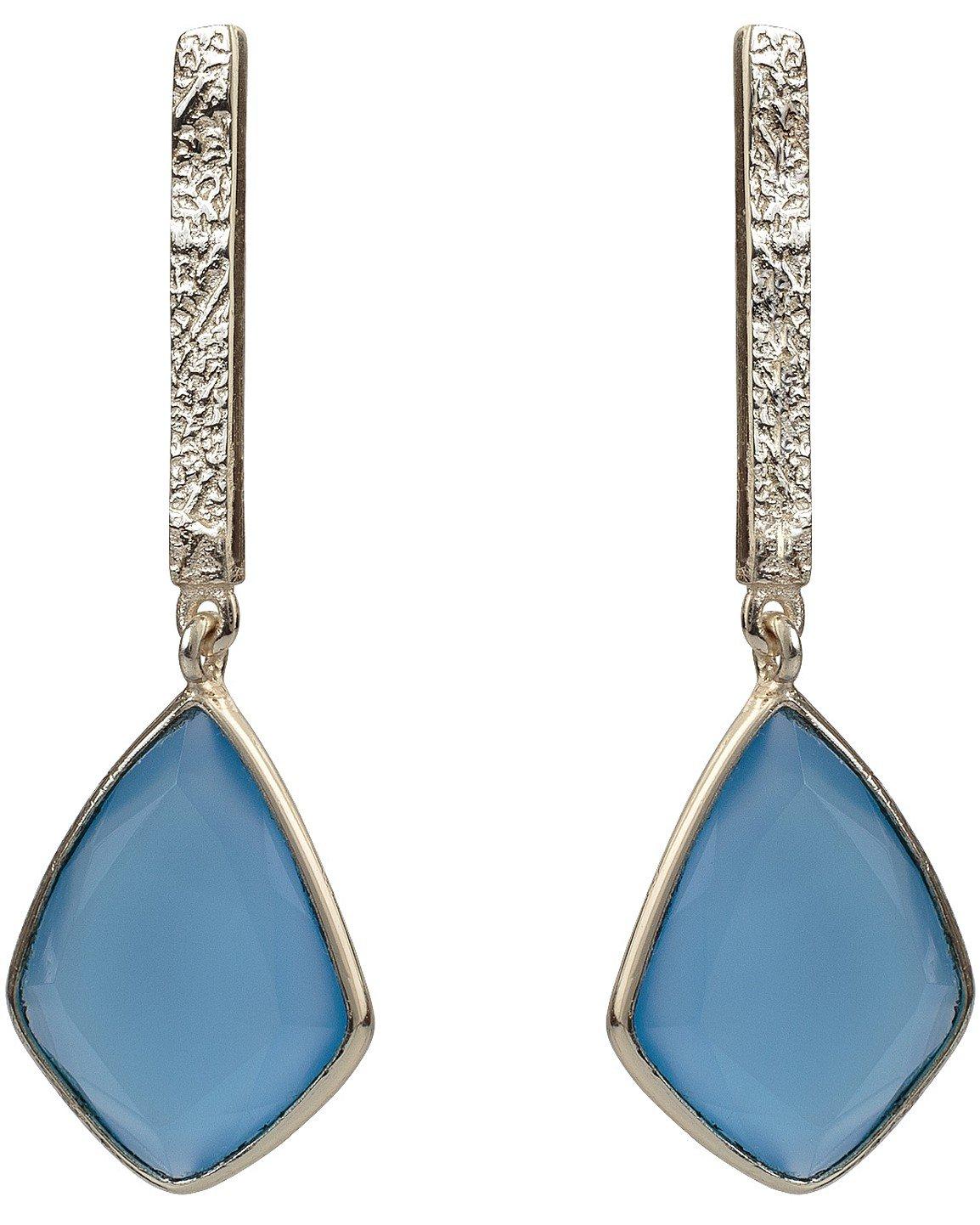 66aa799aa Blue Calci & Gold Plated Drop Earrings