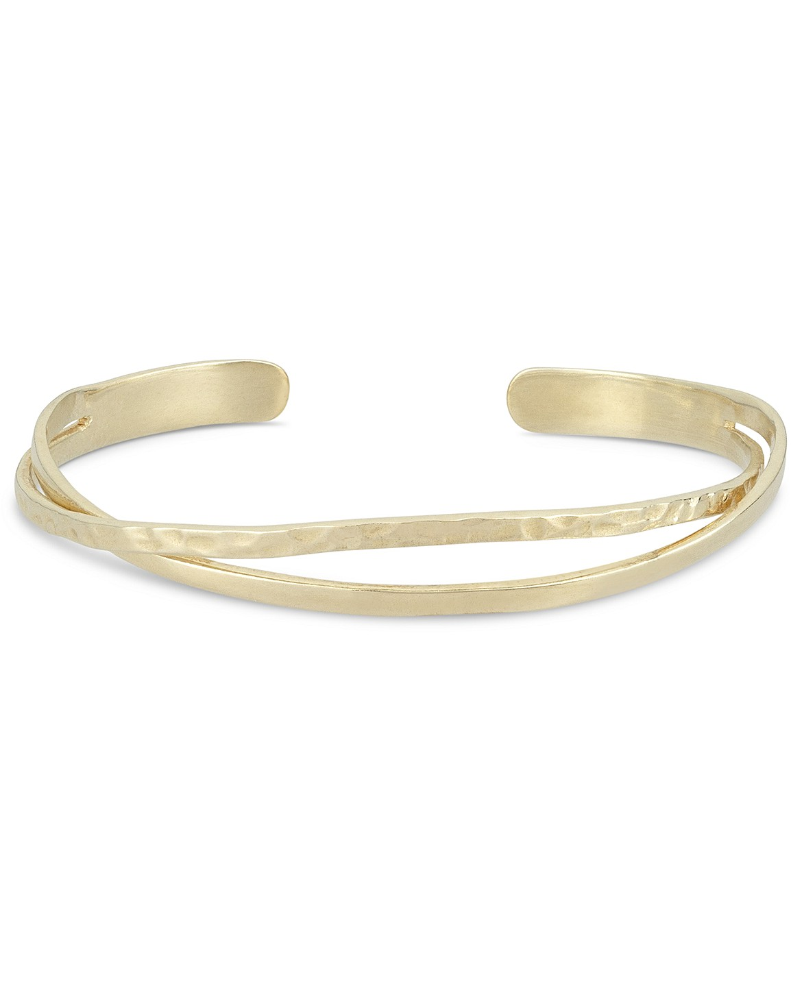 Vinita Twisted Gold Plated Cuff Bangle