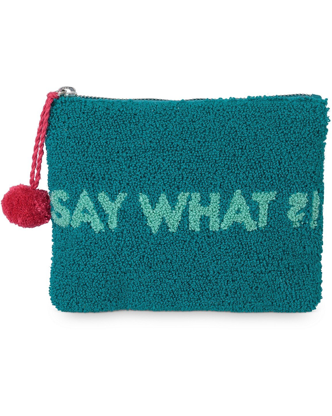 1b2034ef7b9 Say What Green Tufted Pouch