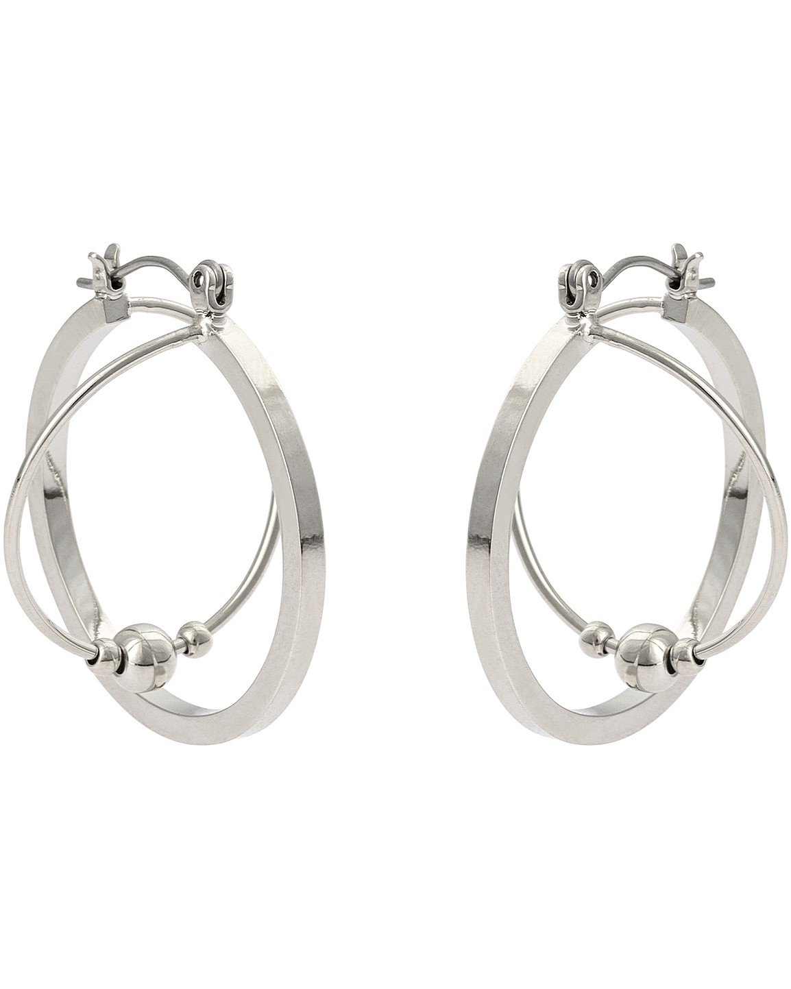 Geikie Twist Bead Hoop Earrings