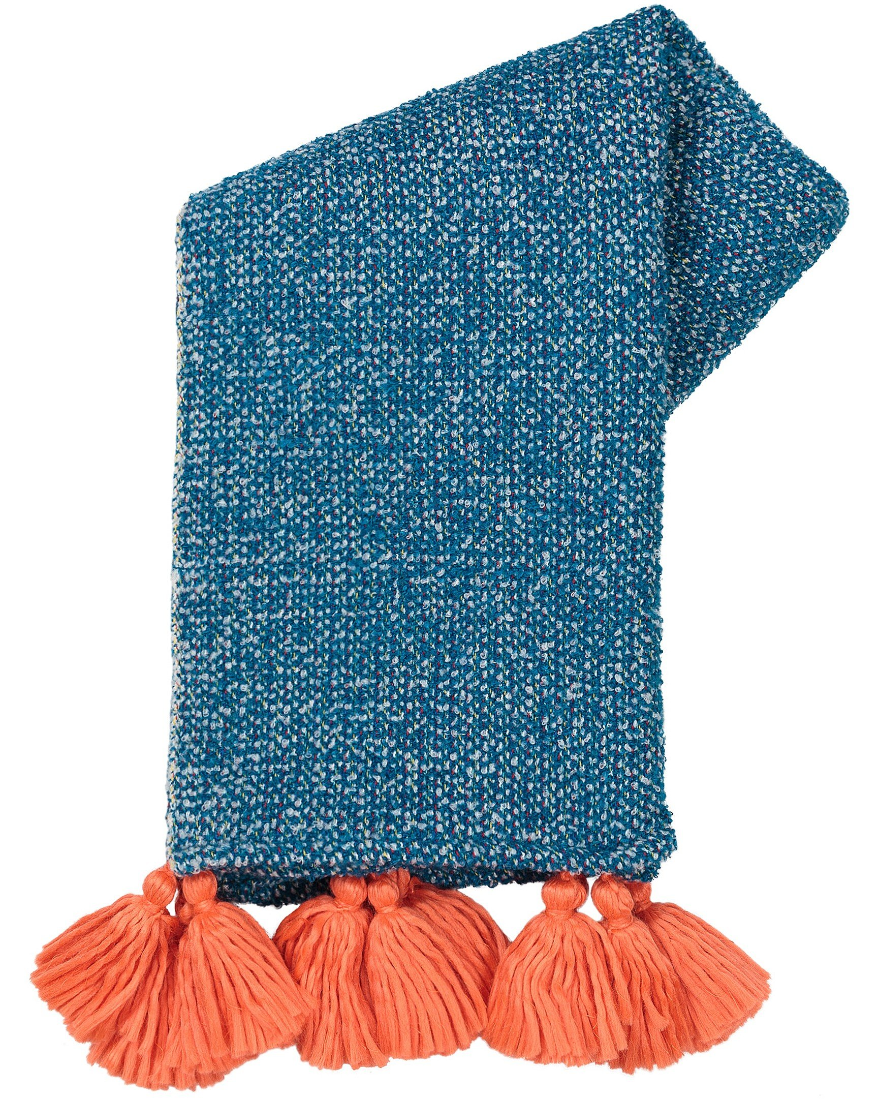 Boucle Blue Woven Throw