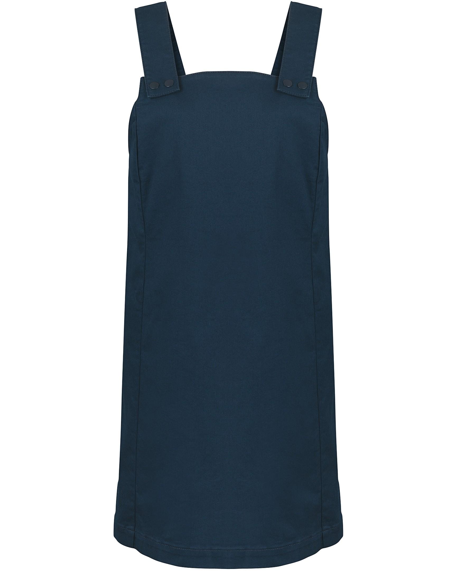 cd1c3f143d9 Popper Front Navy Pinafore Dress