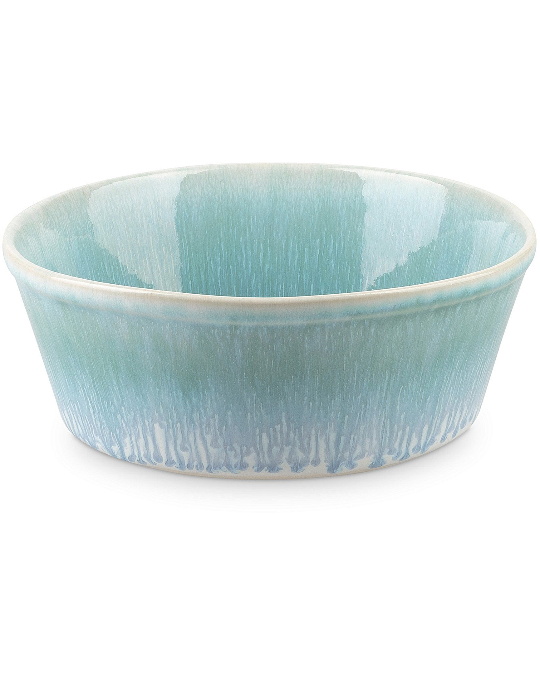 Paw Print Turquoise Ceramic Pet Bowl Large