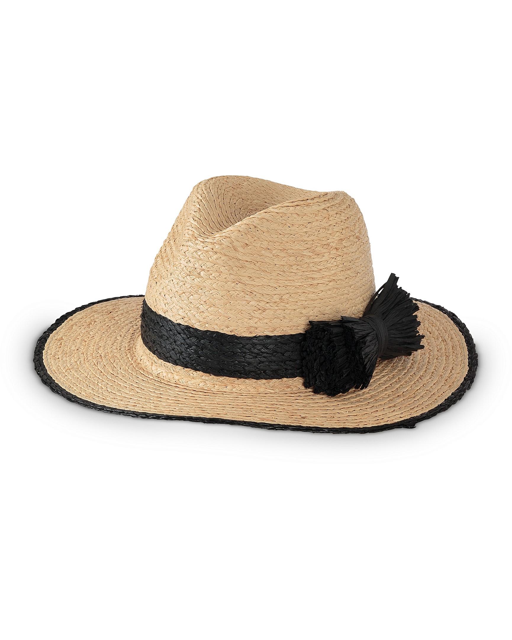 12b611c530c Raffia Bow Fedora Hat