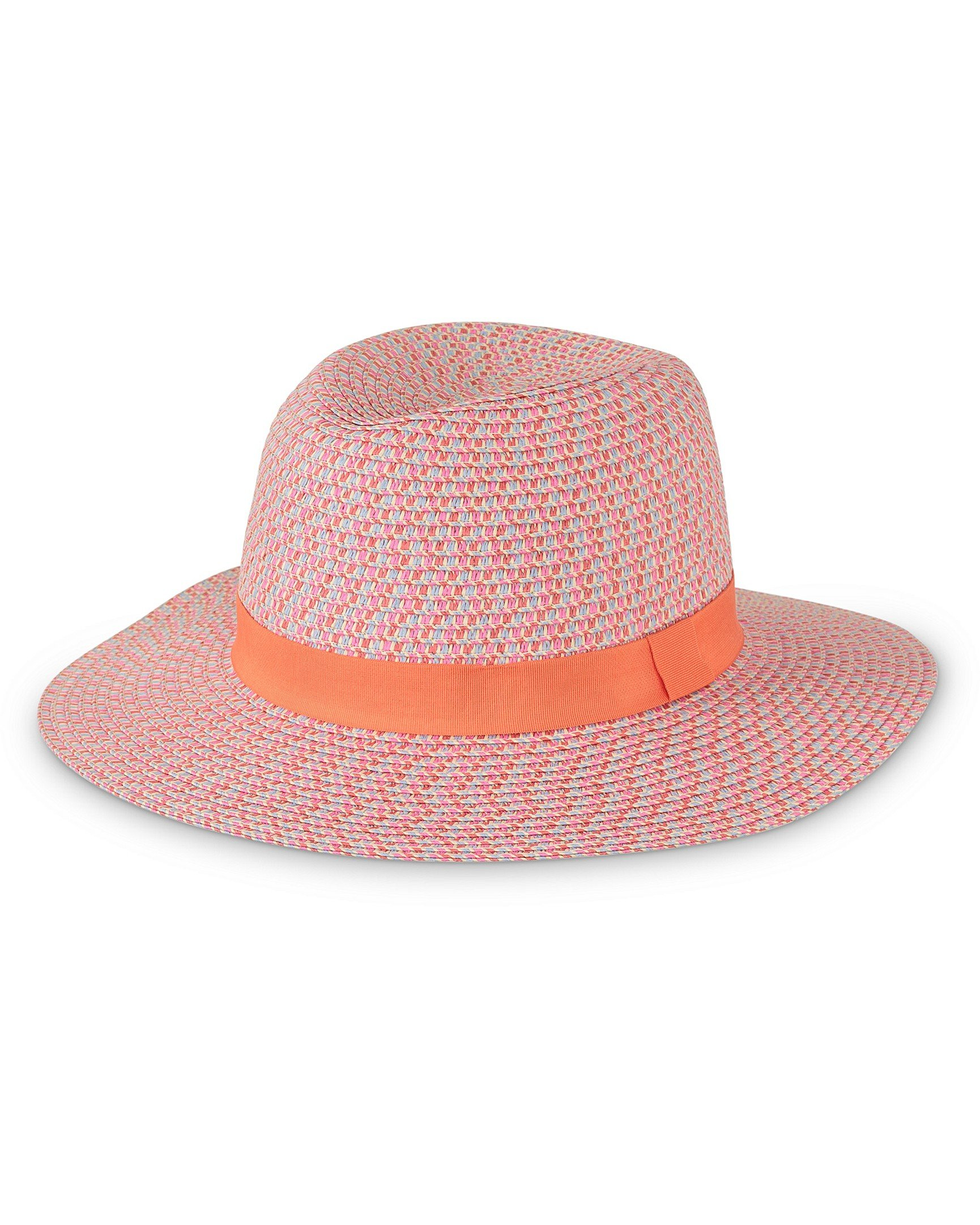 279aea06450 Rainbow Twist Pink Fedora Hat