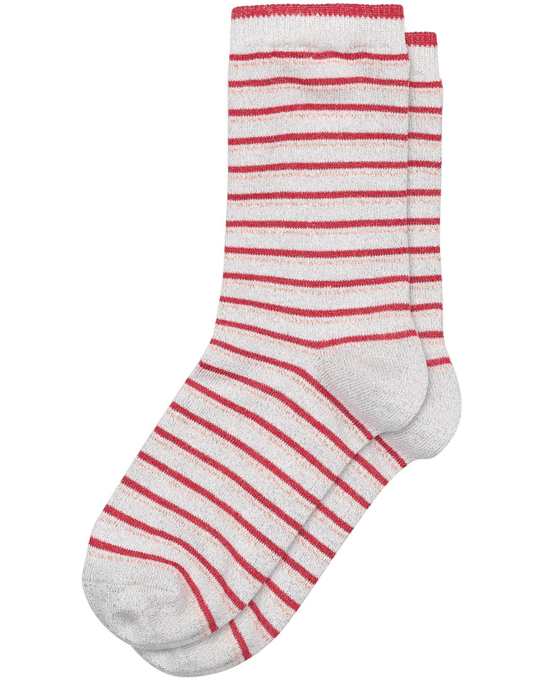 sparkle stripe grey socks