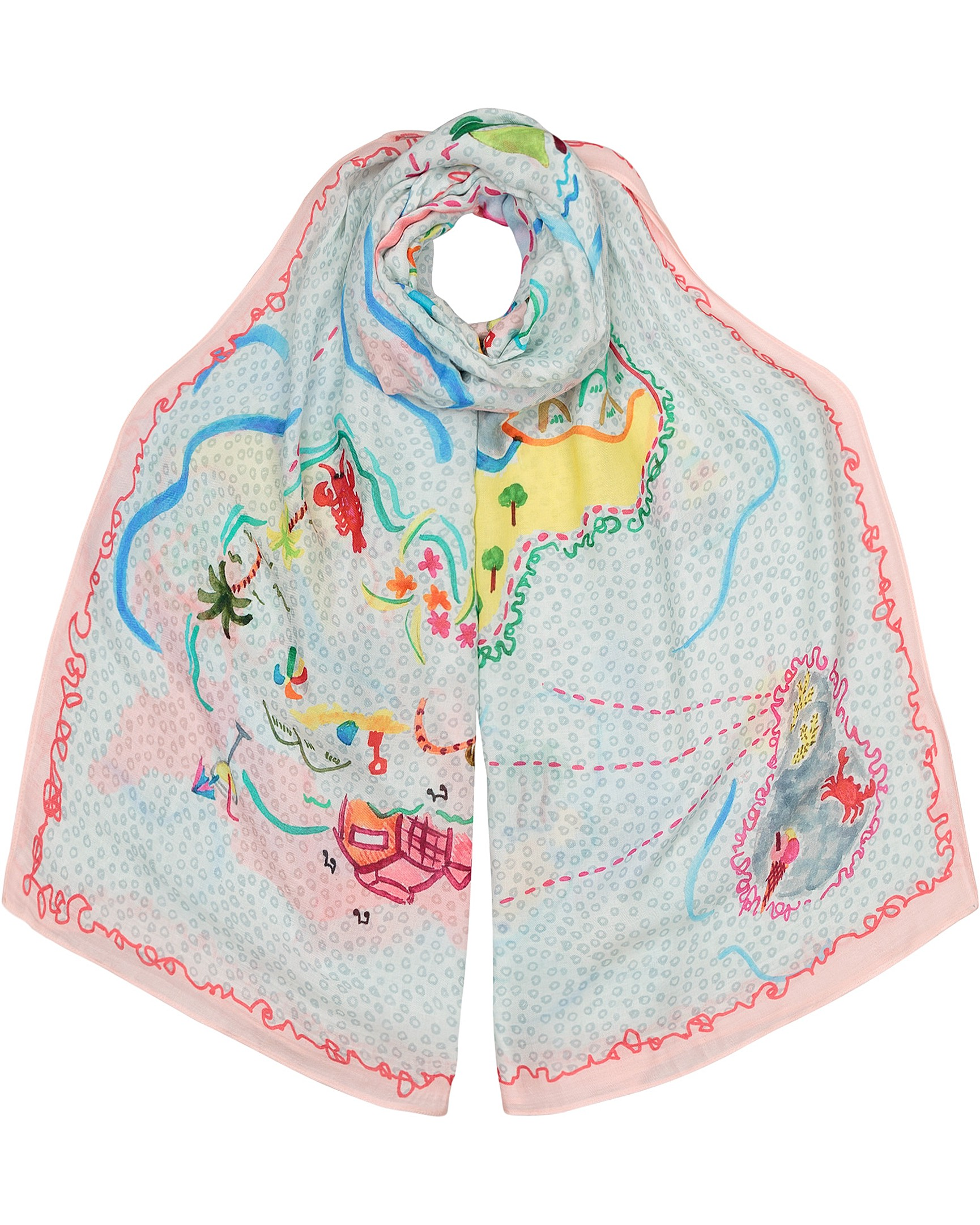 ee8891e9281 Magical Map Scarf