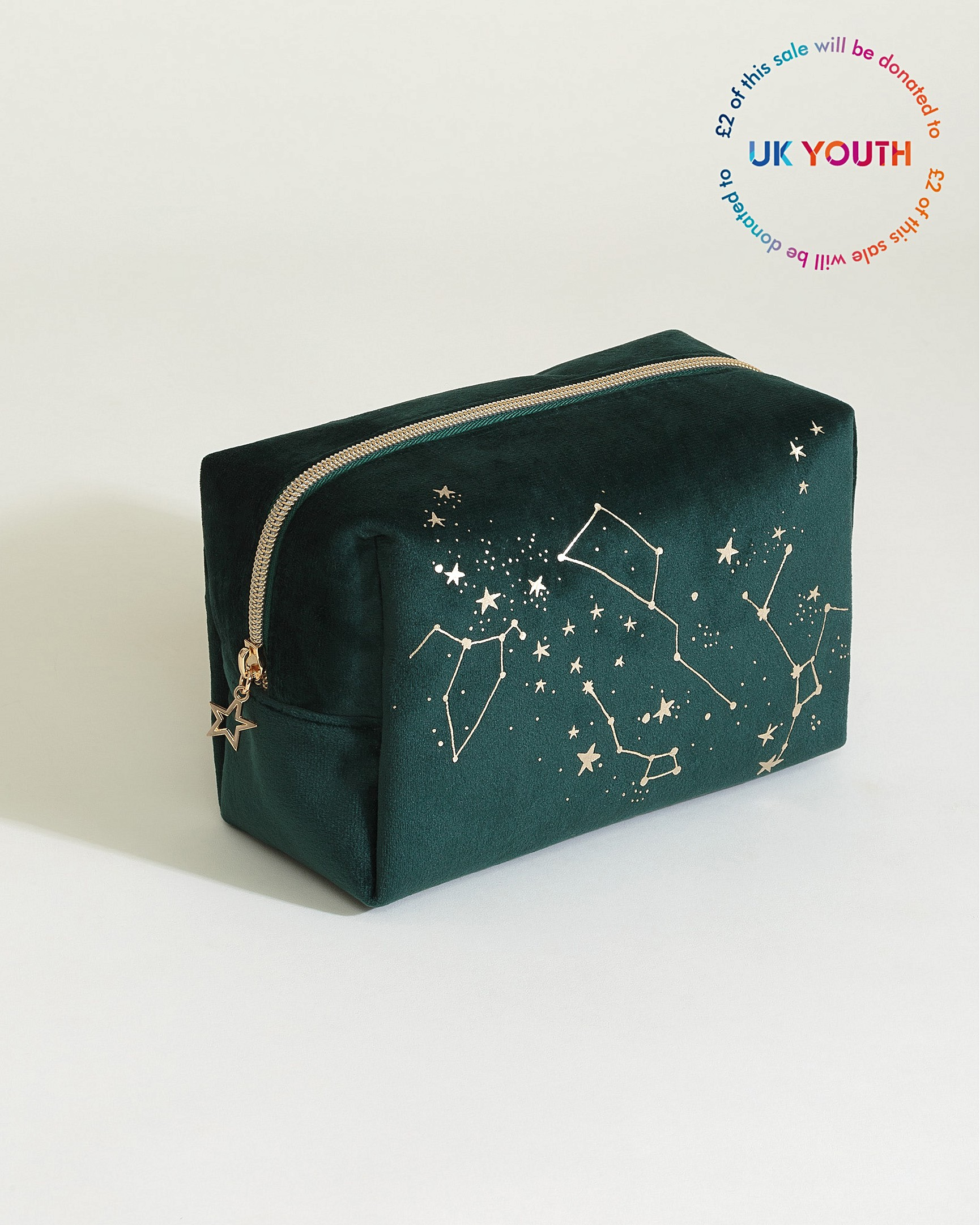ac1821dc660d Velvet Constellation Green Makeup Bag Large