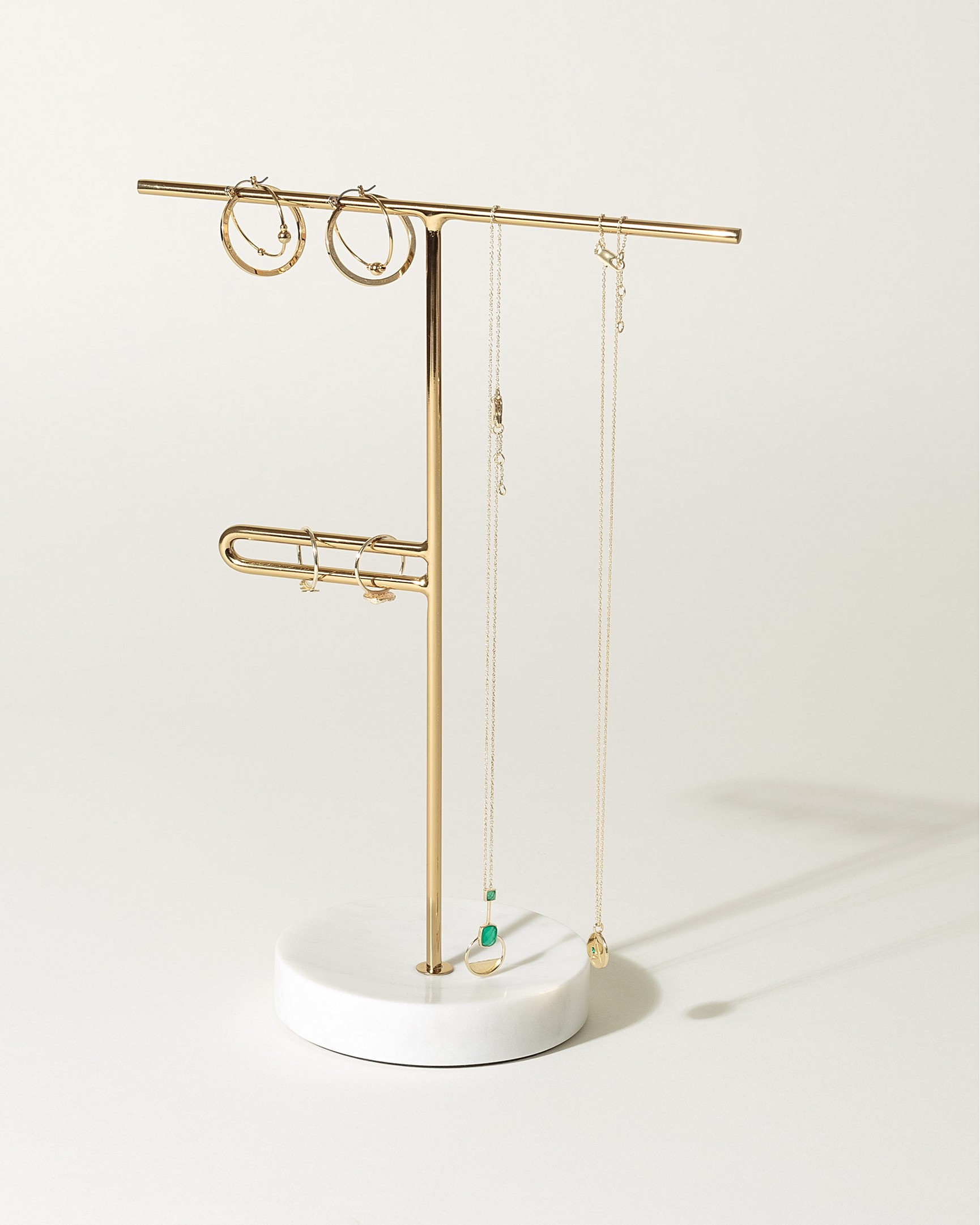 902b897de49f Marble Loop Gold Jewellery Stand Small