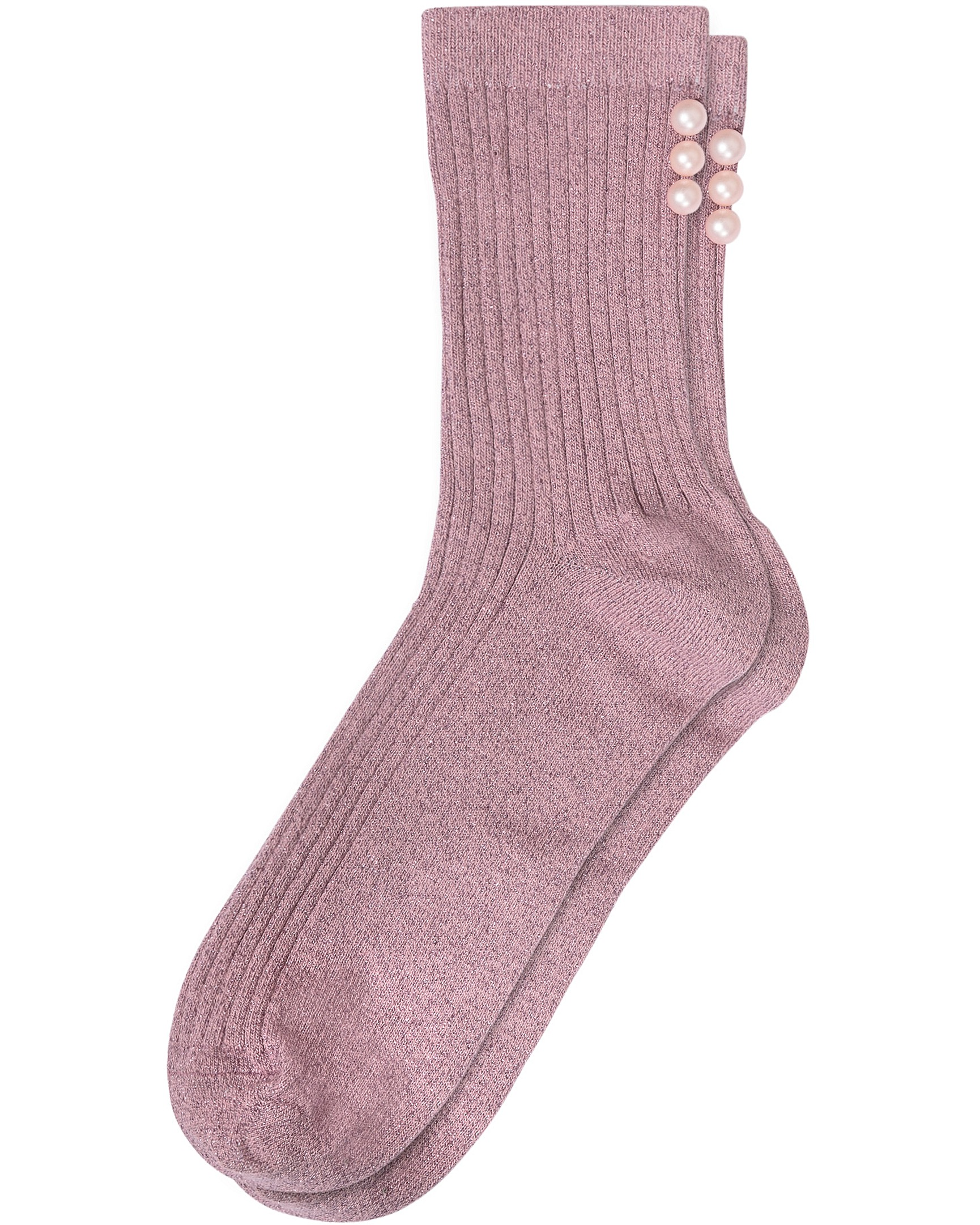 39f61efff4b Pearl Beaded Lilac Shimmer Socks
