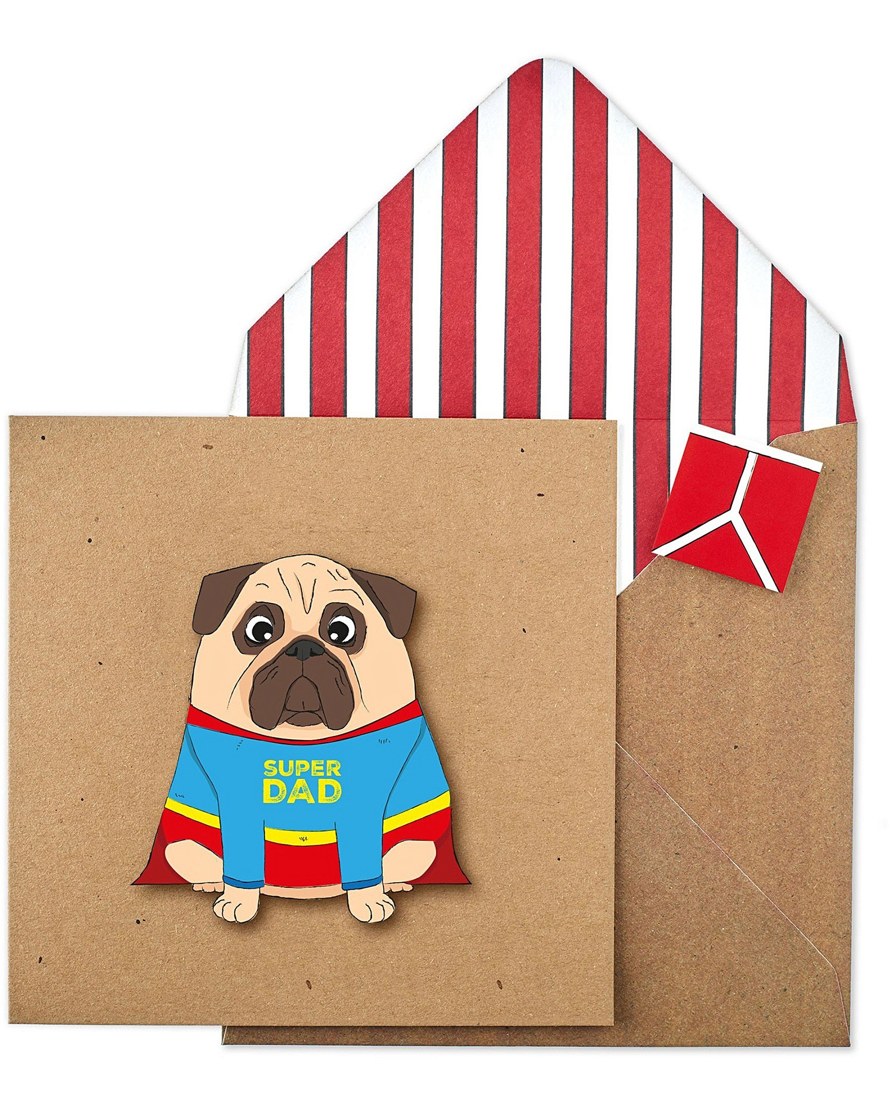 d089015a5f24c Super Dad Pug Father s Day Card