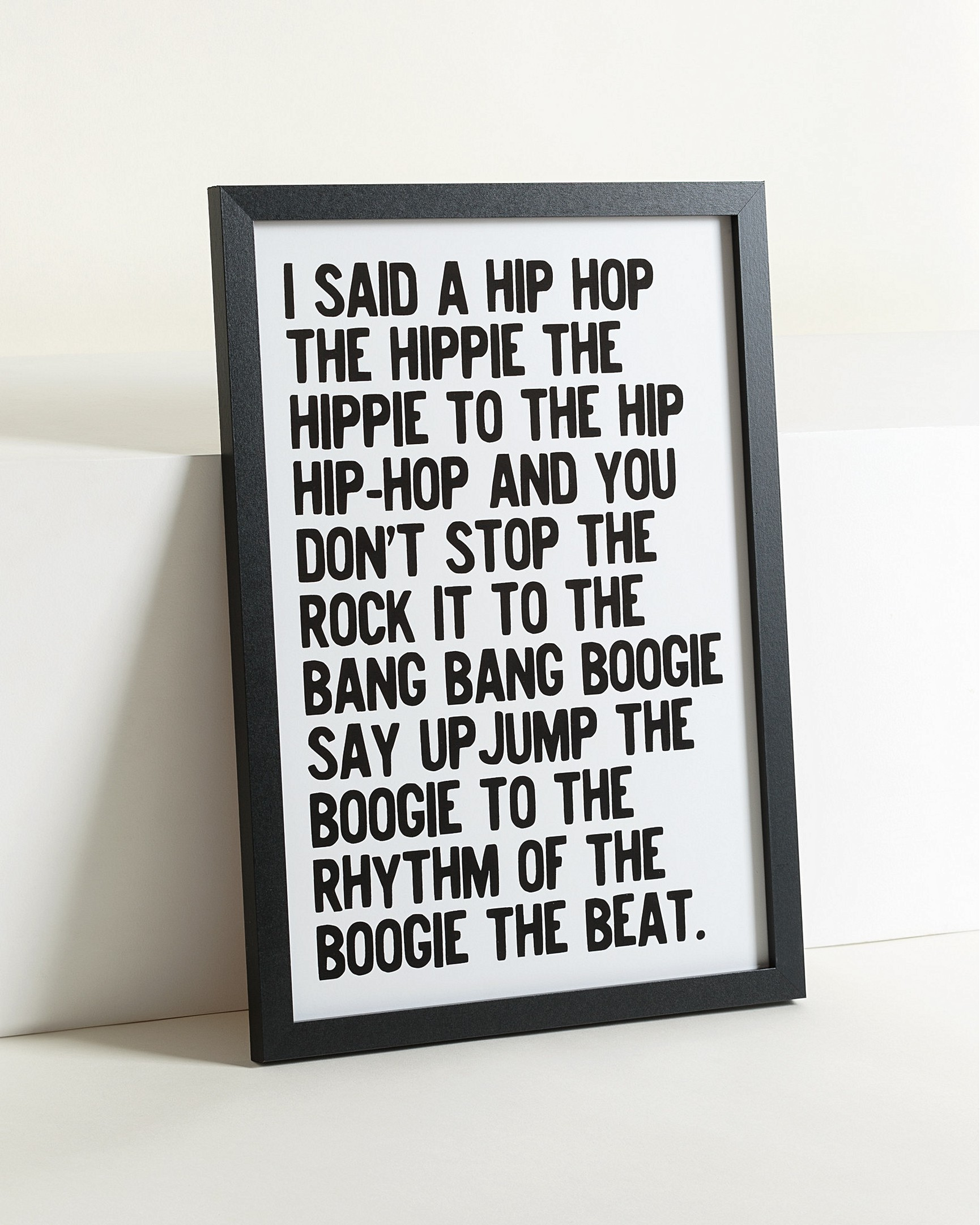 Hip to the hop wall art a3