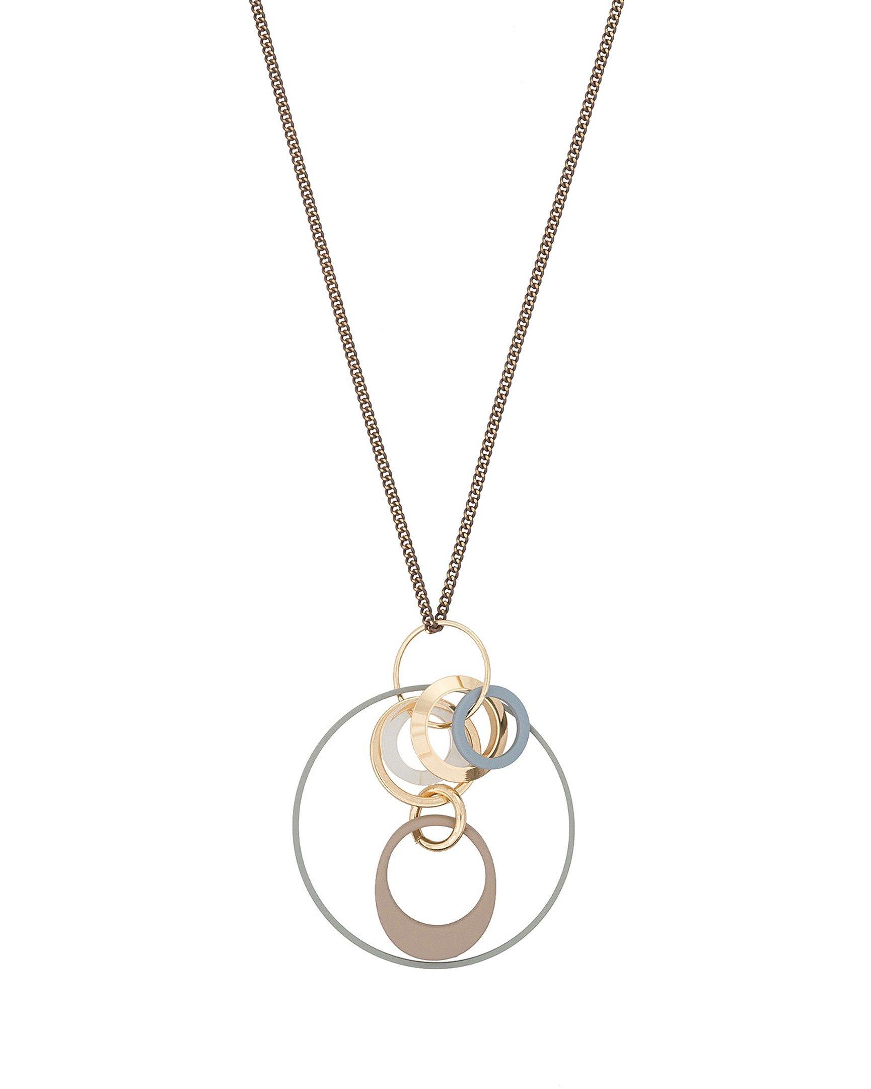 Maligne Interlink Circles Pendant Necklace 3e9df97d7c63