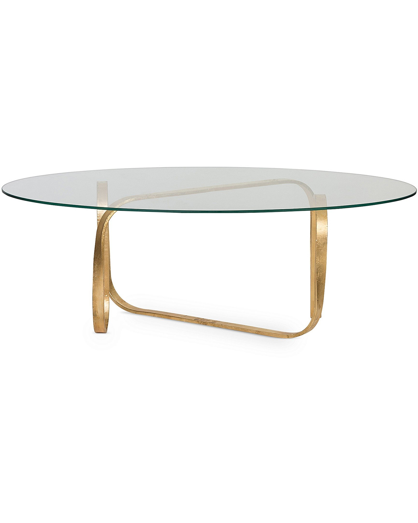 Luxe Loop Gold Glass Coffee Table
