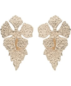 Easter gifts oliver bonas florian statement flower gold plated earrings negle Image collections