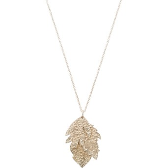 Necklaces pendants oliver bonas anise flower leaf gold plated pendant necklace aloadofball Gallery