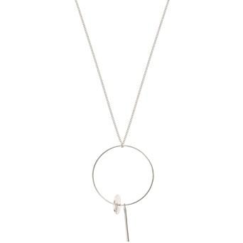 Necklaces pendants oliver bonas camelina circle drop silver pendant necklace aloadofball Choice Image