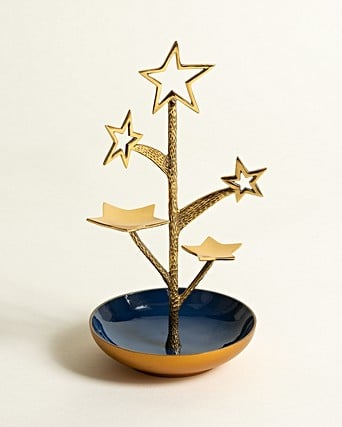 Shooting Stars Gold Jewellery Stand