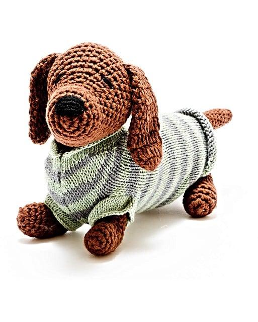 Sausage Dog With Striped Jumper Oliver Bonas
