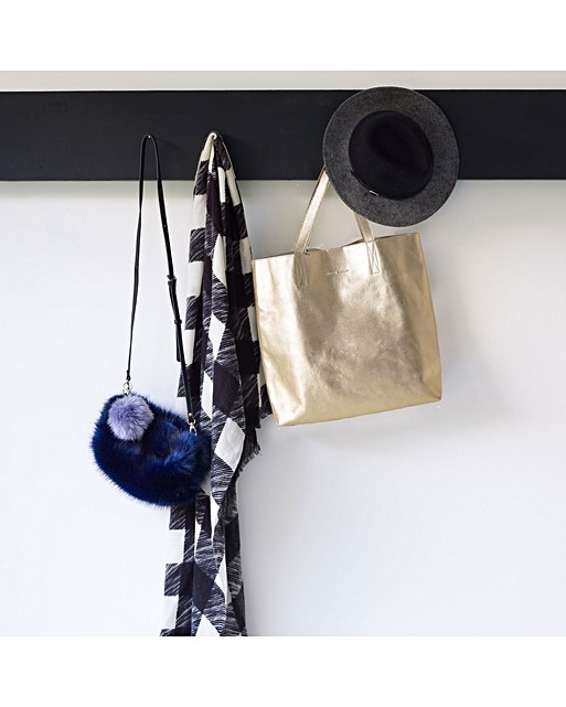 906f9117890b ... Navy Jeanie Faux Fur Cross Body Bag. Double tap to enlarge