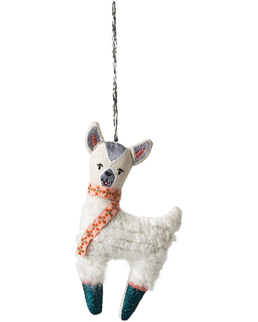 penelope the llama christmas decoration oliver bonas