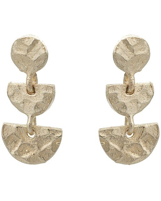 Danica Tiny Shapes Gold Plated Drop Earrings